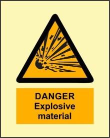 BRANDSHELL Danger Explosive Material Emergency Sign