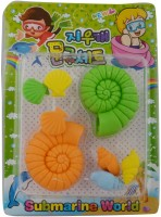 Birthdaygiftwala K14 Medium Erasers (Set Of 8)