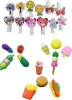 Priyankish Smart Kids Non-Toxic Fruits & Vegetable Eraser Set Shaped Small Erasers (Set Of 4, Multocolor)
