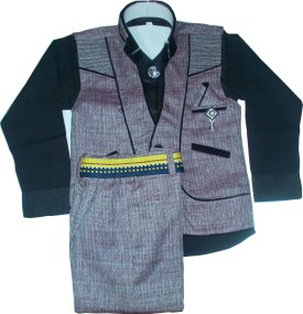 Alvi's Boy's Shirt, Waistcoat And Pant Set