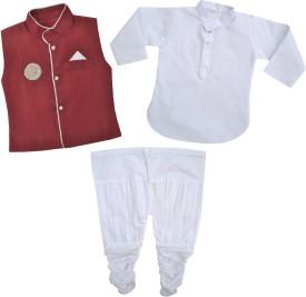Kids Rock Boy's Kurta, Waistcoat And Pyjama Set - ETHE8FYAFXXPDCSW