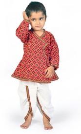 Kiran Udyog Baby Boy's Angarkha and Dhoti Pant