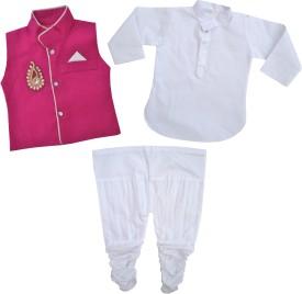 Kids Rock Boy's Kurta, Waistcoat And Pyjama Set - ETHE8FYAPY7ADVZU