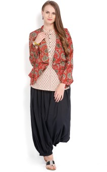 Folklore Women's Kurta, Waistcoat And Pyjama Set - ETHE8R6FSGVPHANK