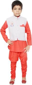 Jbn Creation Boy's Kurta, Waistcoat And Pyjama Set - ETHE8GXJUQWZAHSY