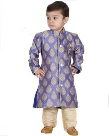 Kishore Dresses Baby Boy's Sherwani and Churidar Set