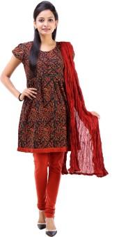 Vastra Vinod Women's Kurti, Legging And Dupatta Set