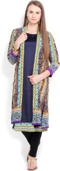 Folklore Women's Kurta, Waistcoat And Pyjama Set - ETHE8ZB6HH8FEVCP