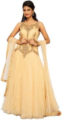 Fashion Sangeet Fashion Women's Churidar, Kurta & Dupatta Set (Beige\/Sand\/Tan)