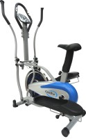 KOBO Cross Trainer / Ab Care Orbitreck Upright Exercise Bike (Blue, Silver)