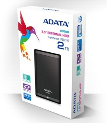 Adata 2 TB Wired  External Hard Drive (Black)
