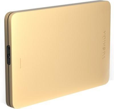 Toshiba Canvio Alumy 1 TB  External Hard Drive (Gold)
