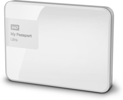 WD My Passport Ultra 1 TB Wired  External Hard Drive (White)