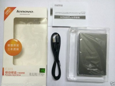 Lenovo 1 TB Wired  External Hard Drive (Grey)