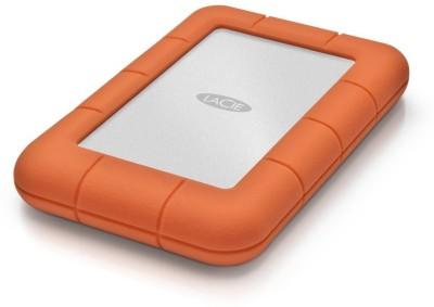 Lacie 1 TB Wired External Hard Disk Drive (Orange)