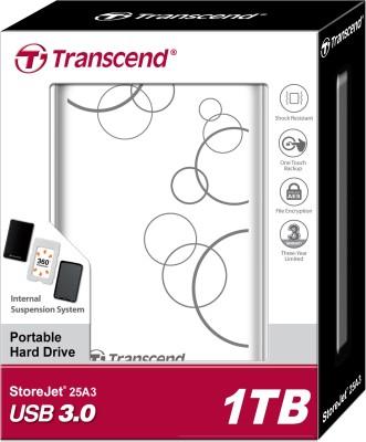 Transcend StoreJet 25A3 2.5 inch 1 TB External Hard Disk