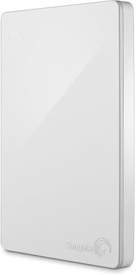 Seagate Backup Plus Slim 1 TB Wired  External Hard Drive with  200 GB  Cloud Storage (White, Mobile Backup Enabled)