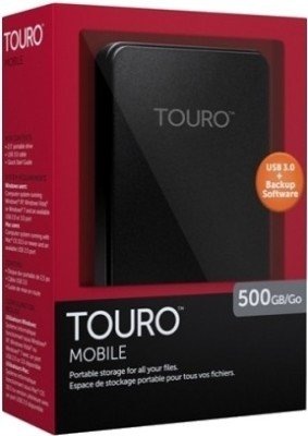 HGST Touro 2.5 inch 500 GB External Hard Disk (Black)