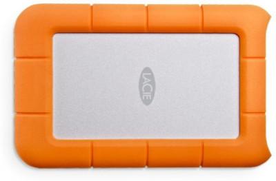 LaCie Rugged USB 3.0 Thunderbolt 1 TB  External Hard Drive (Silver, Orange)