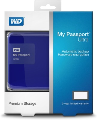 WD 1 TB Wired HDD  External Hard Drive (Blue)