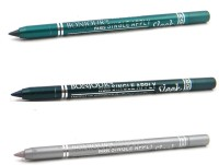 Bonjour Paris Single Apply 0107201626 Glazed Green-Green-Silver Eye Liner 3.6 G (Glazed Green, Green, Silver)