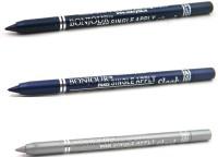 Bonjour Paris Single Apply 0107201669 Navy Blue-Party Blue-Silver Eye Liner 3.6 G (Navy Blue, Party Blue, Silver)