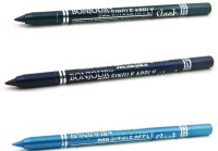 Bonjour Paris Single Apply 1507201655 Green-Navy Blue-Sky Blue Kajal 3.6 G (Green, Navy Blue, Sky Blue)