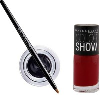 Maybelline Lasting Drama Gel Eye Liner - 2 With Offer 2.5 G (Black - 01)