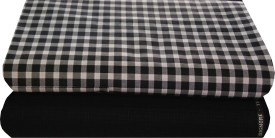 Ivo Gini Cotton, Wool Checkered Shirt & Trouser Fabric