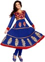 Fabdeal Georgette Floral Print Semi-stitched Salwar Suit Dupatta Material Fabric - Unstitched - FABDTRKUYDFHWKC2