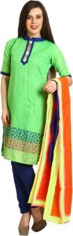 Satrang Brocade, Art Silk, Organza Embroidered Salwar Suit Dupatta Material Un-stitched