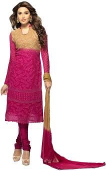 Khantil Chiffon Self Design Salwar Suit Dupatta Material Unstitched
