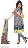 Unnati Silks Cotton Printed Salwar Material Fabric Unstitched
