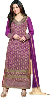 Bay & Blue Georgette Embroidered Salwar Suit Dupatta Material Un-stitched
