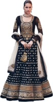 Admyrin Georgette Self Design, Solid Semi-stitched Salwar Suit Dupatta Material - Unstitched