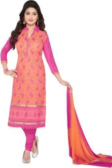 Salwar Studio Cotton Paisley, Floral Print Salwar Suit Dupatta Material Un-stitched