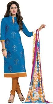 Fabdeal Cotton Floral Print Salwar Suit Dupatta Material Un-stitched