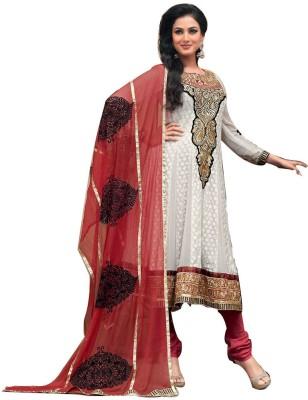 Lifestyle Lifestyle Megamart Georgette Self Design Semi-Stitched Salwar Suit Dupatta Material (Multicolor)
