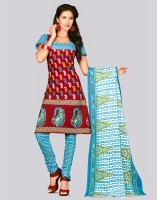 Siyarams Cotton Printed Dress/Top Material Fabric Unstitched