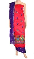 Fabrics Of India Cotton Printed Dress/Top Material - Unstitched - FABDWMRETHEWHMEA