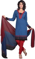 Fashionic Crepe Printed Salwar Material Fabric Unstitched