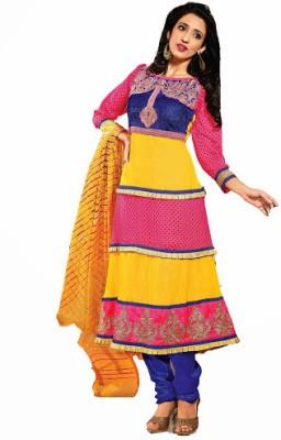 Vineberi Cotton Striped Dress/Top Material Fabric - Unstitched