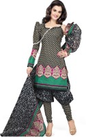 Silkbazar Cotton, Polyester Printed Dress/Top Material - Unstitched - FABDZDBH8GHXFMGA