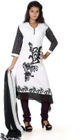 B3 Fashion Cotton Solid Semi-stitched Salwar Suit Dupatta Material - Unstitched