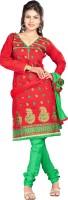 Prafful Cotton Floral Print Salwar Suit Dupatta Material - Unstitched