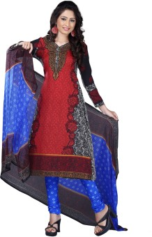 Vibrant Fashion Crepe Printed Salwar Suit Dupatta Material Unstitched