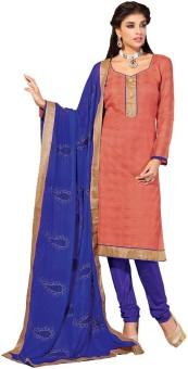 Desi Look Cotton Solid Semi-stitched Salwar Suit Dupatta Material