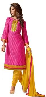 Stylowoman Cotton Silk Blend Self Design Salwar Suit Dupatta Material Unstitched