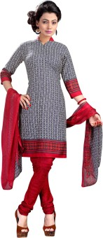 Vastrangam Crepe Printed Semi-stitched Salwar Suit Dupatta Material Semi-stitched - FABEASSVR3XZDPGM