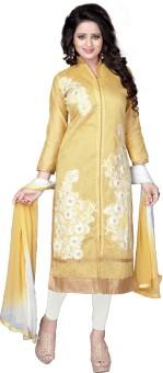 Merito Cotton Embroidered, Self Design Semi-stitched Salwar Suit Dupatta Material, Semi-stitched Salwar Suit Material, Salwar Suit Material, Salwar Suit Dupatta Material Semi-stitched